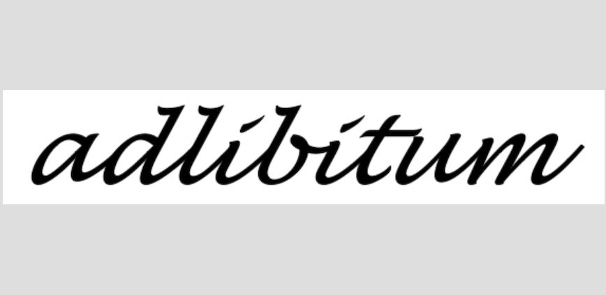 adlibitum Schriftzug