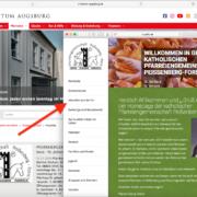 Einblenden der Navigation nach Antippen des Hamburger Menüs