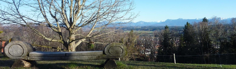 Foto Alpenblick vom Weinbauer am Hohenpeißenberg aus